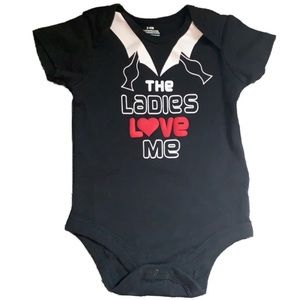 Baby Boy The Ladies Love Me Onesie